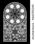 monumental stained glass window ... | Shutterstock .eps vector #466550240
