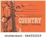 american country music poster... | Shutterstock .eps vector #466552319