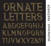 golden ornate capital letters... | Shutterstock .eps vector #466554929