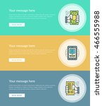 flat line business concept web... | Shutterstock .eps vector #466555988