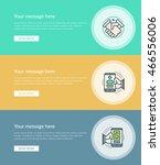 flat line business concept web...   Shutterstock .eps vector #466556006
