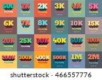 retro thanks design set for... | Shutterstock .eps vector #466557776