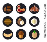 set of cartoon food icons. nuts ... | Shutterstock .eps vector #466561280