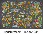colorful vector hand drawn... | Shutterstock .eps vector #466564634