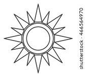 flat design geometric sun...