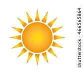 flat design sun representation... | Shutterstock .eps vector #466565864
