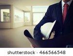 businessman holding... | Shutterstock . vector #466566548