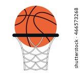 flat design basketball ball... | Shutterstock .eps vector #466573268