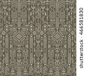seamless ethnic pattern with... | Shutterstock .eps vector #466581830