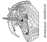 unicorn line   Shutterstock . vector #466582124