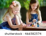 adorable little girls having... | Shutterstock . vector #466582574