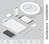 corporate identity mock up... | Shutterstock .eps vector #466588484