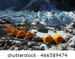 Small photo of Yellow tent at Everest base Camp in Nepal 2016