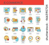 vector icons set. e commerce | Shutterstock .eps vector #466590704