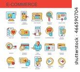 vector icons set. e commerce | Shutterstock .eps vector #466590704