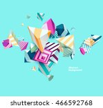 Abstract colorful background with geometric elements | Shutterstock vector #466592768