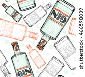 seamless pattern with gin | Shutterstock .eps vector #466598039