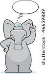 elephant thinking | Shutterstock . vector #46659889