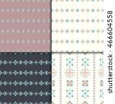 geometric ethnic seamless... | Shutterstock .eps vector #466604558