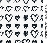 doodle black and white seamless ... | Shutterstock .eps vector #466604573