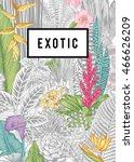 vector card vintage. exotic... | Shutterstock .eps vector #466626209