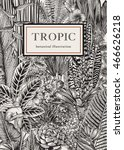 vector card vintage. exotic... | Shutterstock .eps vector #466626218