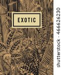 vector card vintage. exotic... | Shutterstock .eps vector #466626230
