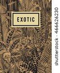 vector card vintage. exotic... | Shutterstock .eps vector #466626230