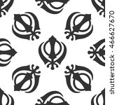 khanda sikh icon pattern on... | Shutterstock . vector #466627670