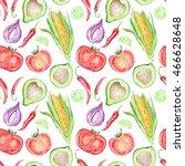 vegetable mexican cuisine... | Shutterstock . vector #466628648