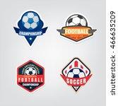 soccer logo design set vector... | Shutterstock .eps vector #466635209