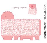gift box template with lid ... | Shutterstock .eps vector #466638014