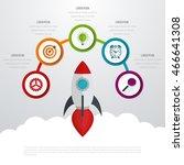timeline vector 3d infographic... | Shutterstock .eps vector #466641308