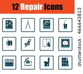 set of repair icons. flat...