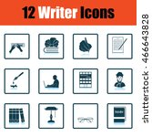set of writer icons. flat...