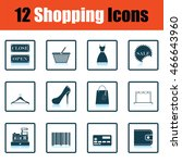 shopping icon set. shadow...