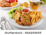 Wiener Schnitzel With French...