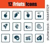 fruit icon set. shadow...