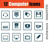 set of computer icons. shadow... | Shutterstock .eps vector #466645550