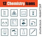 chemistry icon set. shadow...
