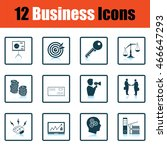 business icon set. shadow...