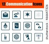 communication icon set. shadow...