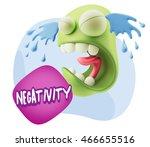 3d illustration sad character...   Shutterstock . vector #466655516