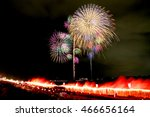 fireworks display festival in... | Shutterstock . vector #466656164