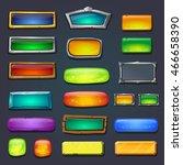 buttons set  form designed game ... | Shutterstock .eps vector #466658390