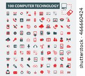 computer technology icons | Shutterstock .eps vector #466660424