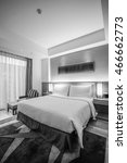 black and white style   hotel... | Shutterstock . vector #466662773