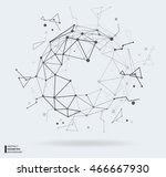 vector illustration of black... | Shutterstock .eps vector #466667930
