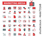 marketing media icons | Shutterstock .eps vector #466673168