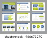 set of blue and green template... | Shutterstock .eps vector #466673270